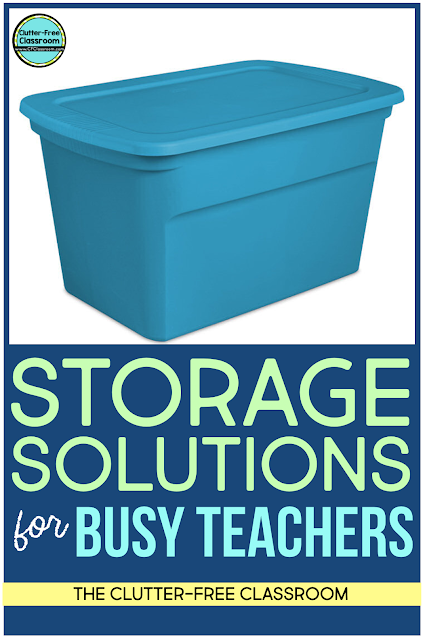 Teachers LOVE using storage containers to keep their classrooms organized. They are a total game changer! Check out this blog post with simple and cheap storage solutions here.