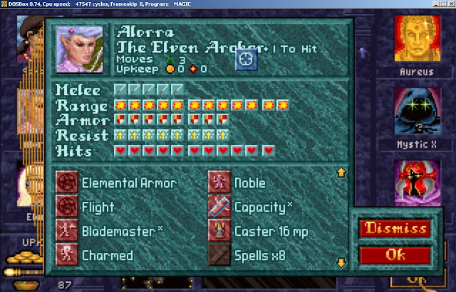 Alorra Hero from Master of Magic game screenshot