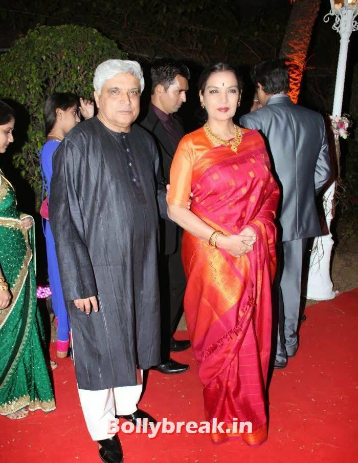 Javed Akhtar, Shabana Azmi, Ahana Deol Wedding & Reception Pics