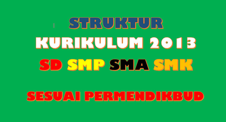 Struktur Kurikulum 2013 Sd Smp Sma Smk Sesuai Permendikbud Link Guru