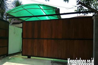 Pintu Besi Kombinasi Kayu Kamper Pemasangan Di Jl Rajasa 3 Kebayoran Baru Jakarta
