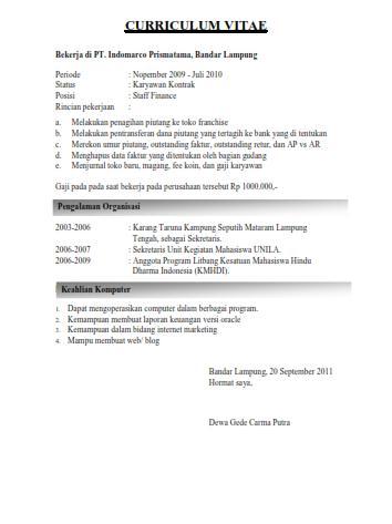 Download Contoh Surat Lamaran Kerja Online Via Email Contoh Surat