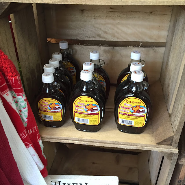 All natural Wisconsin maple syrup!