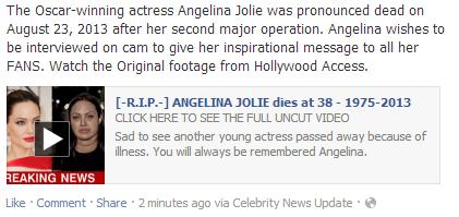 angelina jolie dies 38 facebook app
