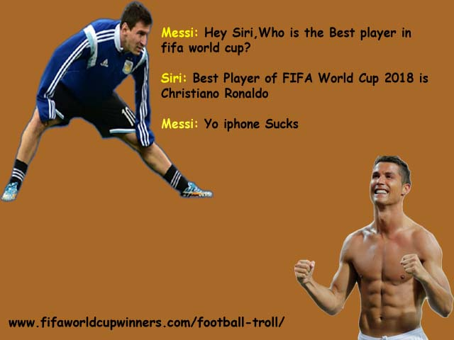 ronaldo trolling messi-Football troll