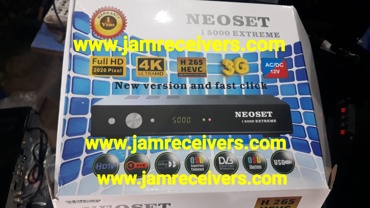 NEOSET i5000 EXTREME NEW POWERVU SOFTWARE 2019 BY JAM