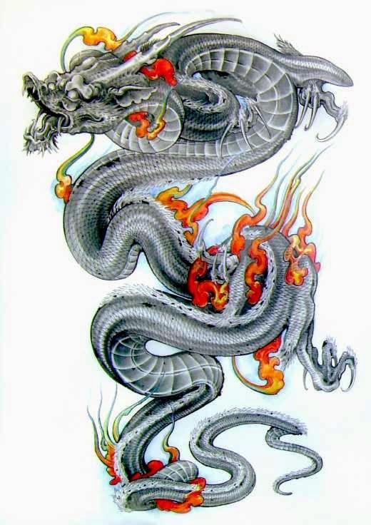 Dise os de dragones belagoria la web de los tatuajes - Tattoo disenos a color ...