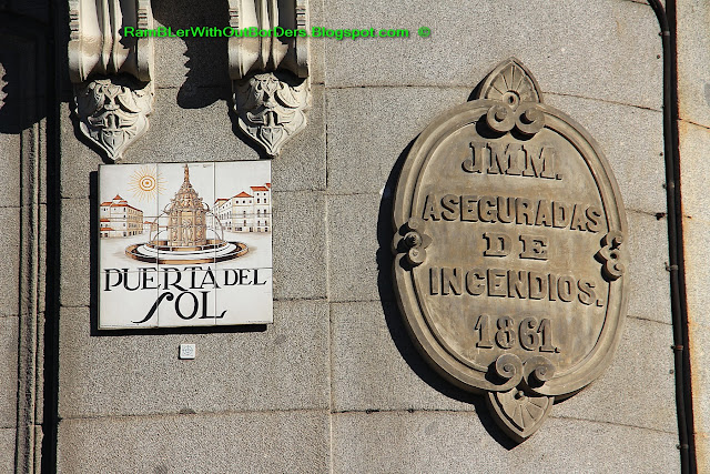 Tiled street sign, Puerta del Sol, Madrid, Spain