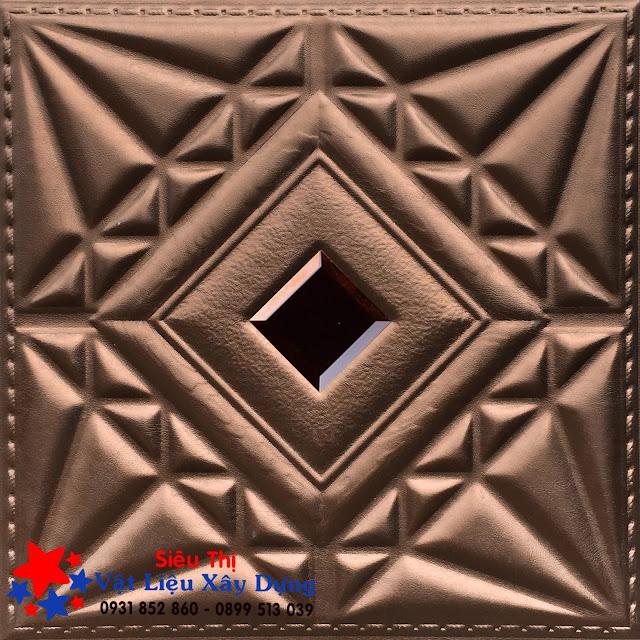 Tấm ốp PVC Da 3D màu socola