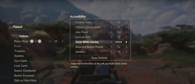 uncharted 2 menu showing new accessibility options.