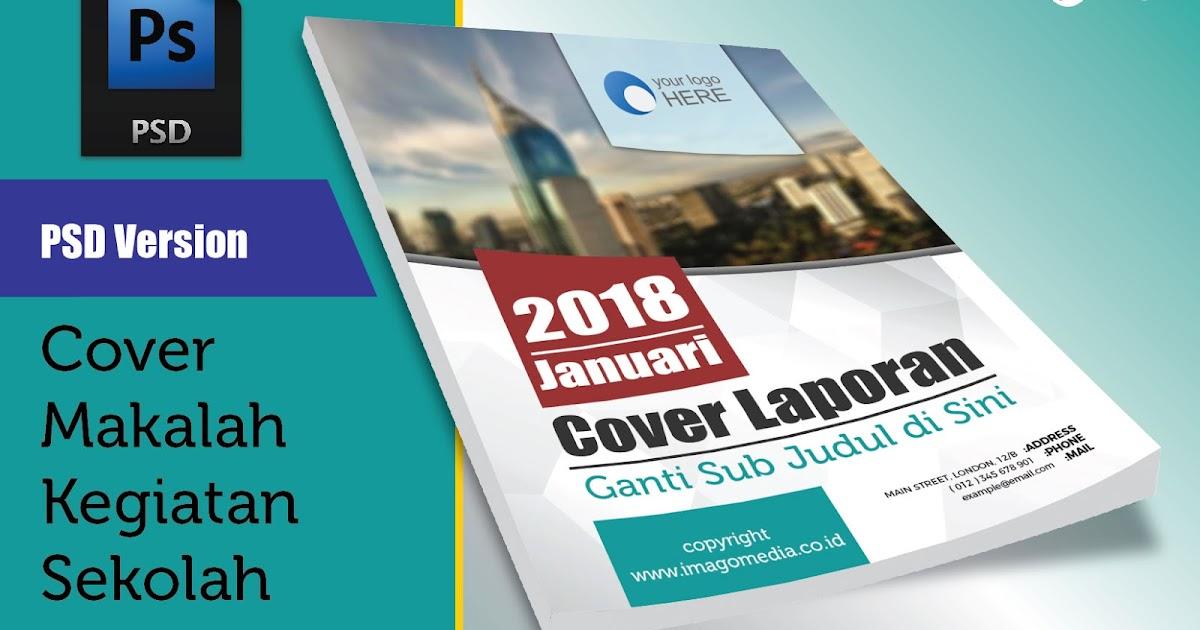 Desain Cover Laporan Modern 2018 Versi Photoshop Imago Media Home Of Creativity