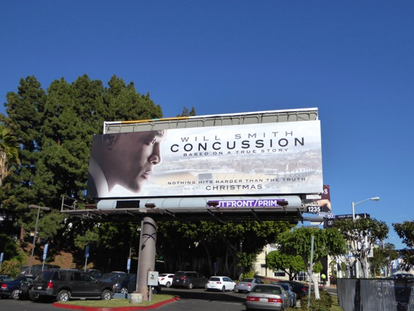 Concussion movie billboard