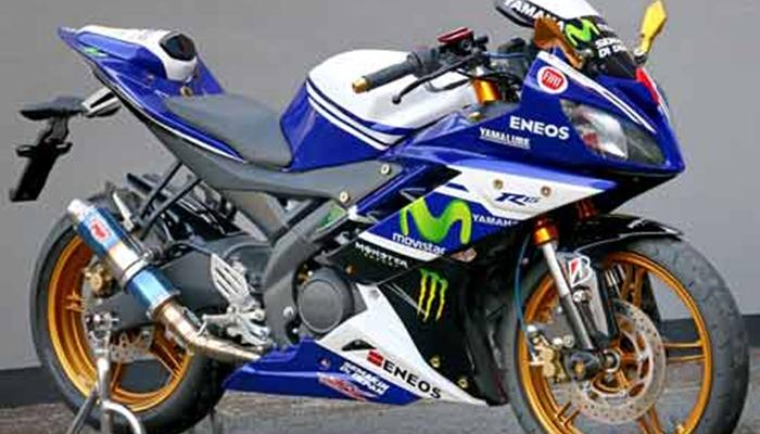 Modifikasi yamaha r15 terbaru movistar new merah velg jari