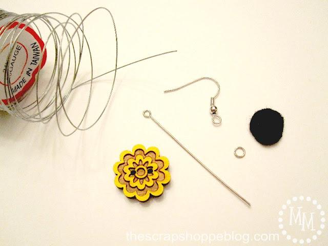 button earring supplies