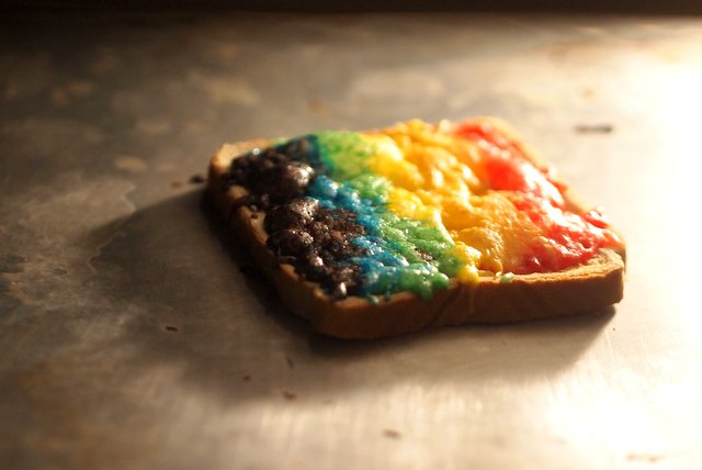 how to make rainbow grilled cheese sandwiches - 2 ways!