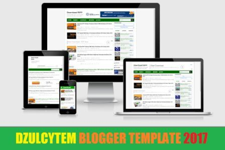 Dzulcytem Blogger Template Responsive Mobile Friendly 2017