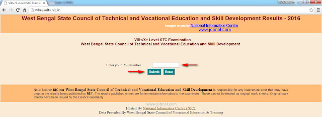 result of stc exam 2016 wbsctvesd