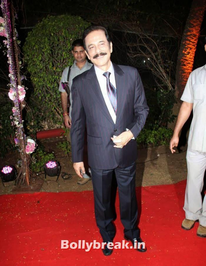 Subroto Roy Sahara, Ahana Deol Wedding & Reception Pics