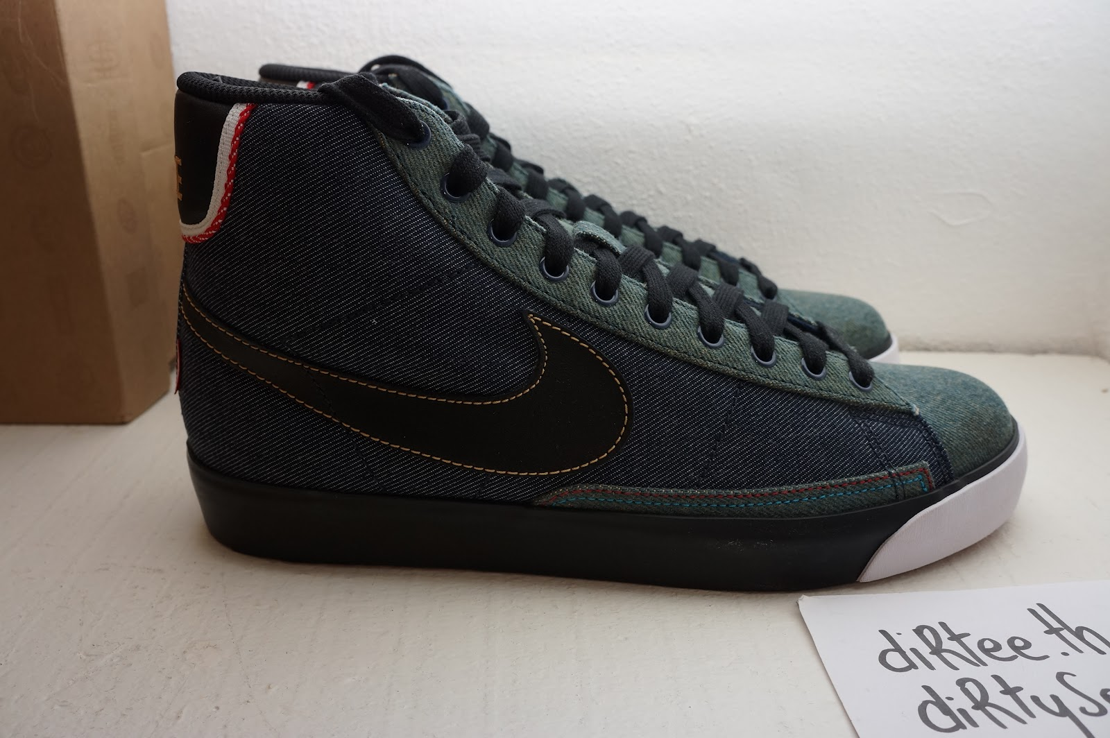 check out 24a81 821d5 NIKE - Blazer Mid Premium ND QuickStrike - Selvedge Denim Pack 366962-401