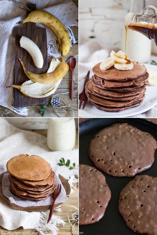 puszyste placki bananowo-kakaowe na śniadanie