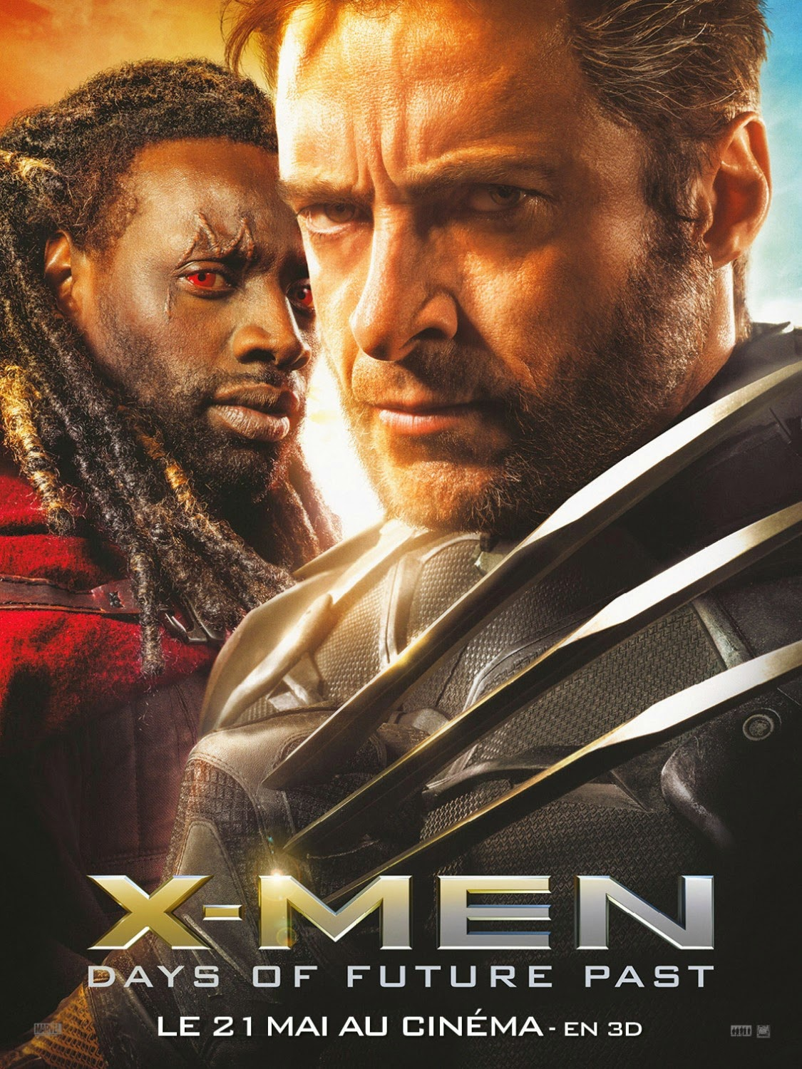 X-Men Days of Future Past Character Movie Poster Set - Omar Sy as Bishop & Hugh Jackman as Wolverine