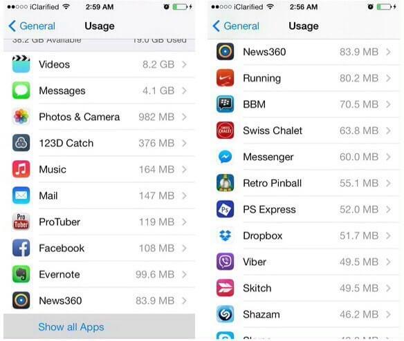 Menemukan Ukuran Aplikasi di iPhone atau iPod touch