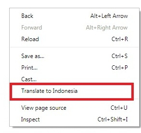 Cara Menerjemahkan Laman Web Bahasa Inggris Secara Otomatis Melalui Google Chrome