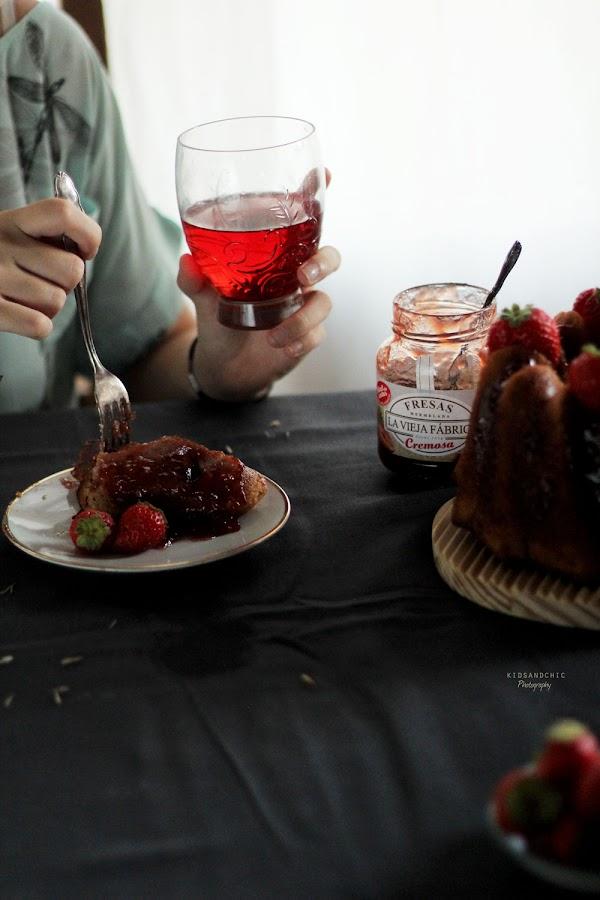 receta bizcocho de mermelada de fresas -kidsandchic