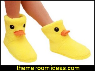 Rubber Duck Plush Slippers Winter Warm Slippers for Women
