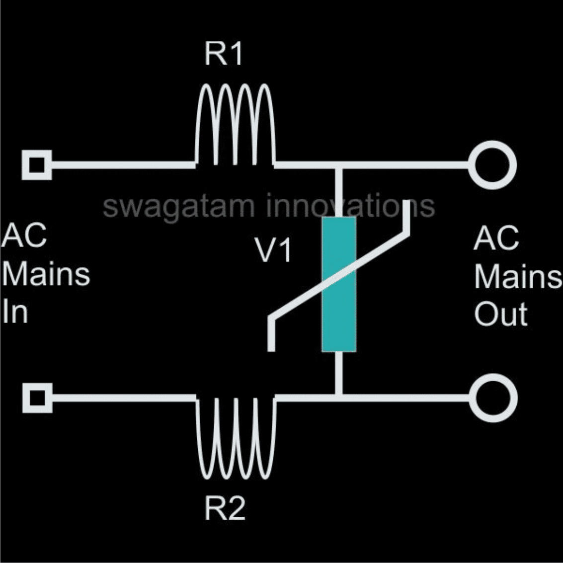 hight resolution of surge suppressor using inductor and mov varistor