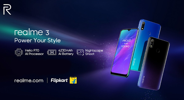 Realme 3 Launched India,Price, Specifications