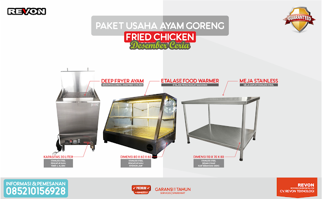 Perlengkapan Usaha Ayam Goreng Fried Chicken