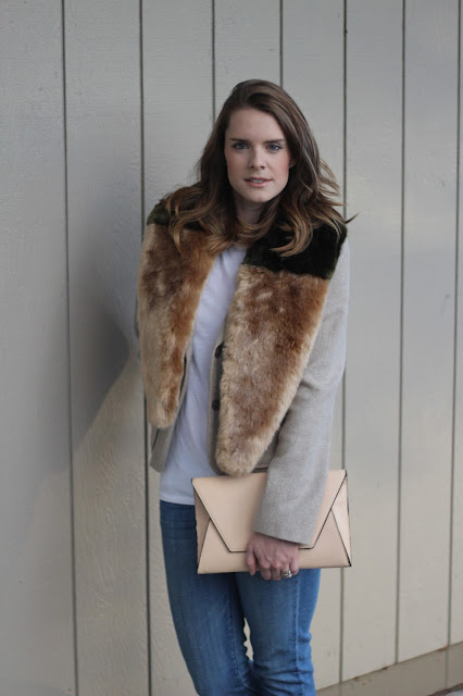 Blazer and Faux Fur Stole