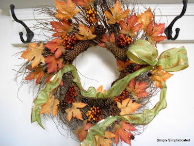 Simple Fall Twig Wreath