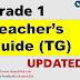 TEACHER'S GUIDE (TG) GRADE 1 K-12 UPDATED!!
