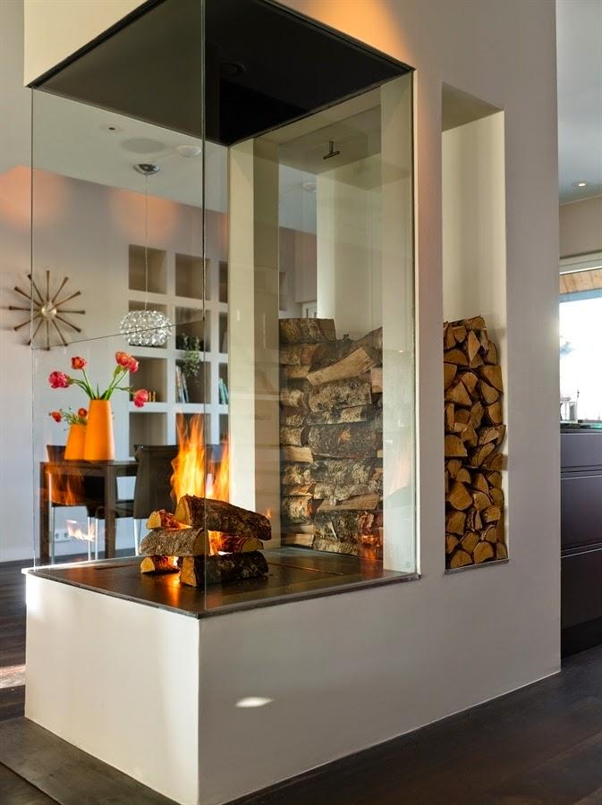 Chimeneas calor de hogar - Chimeneas con cristal ...