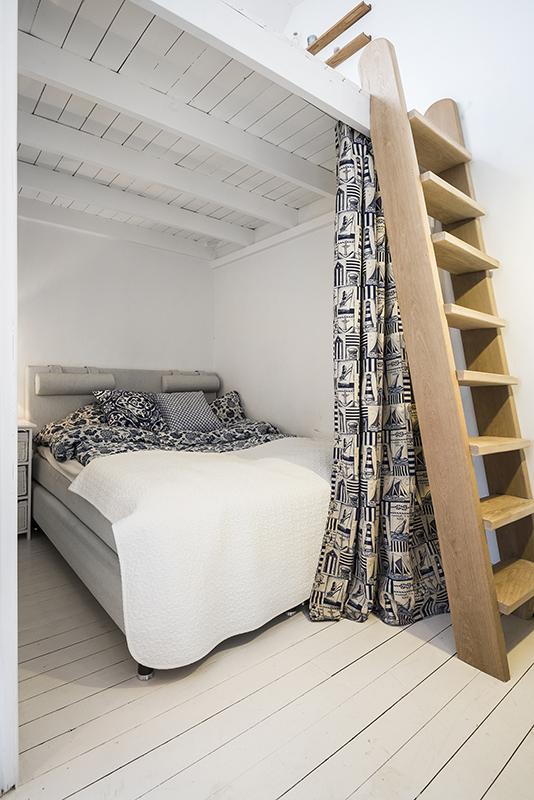 Dormitorio - Agradables detalles en tono pastel para este precioso mini piso nordico