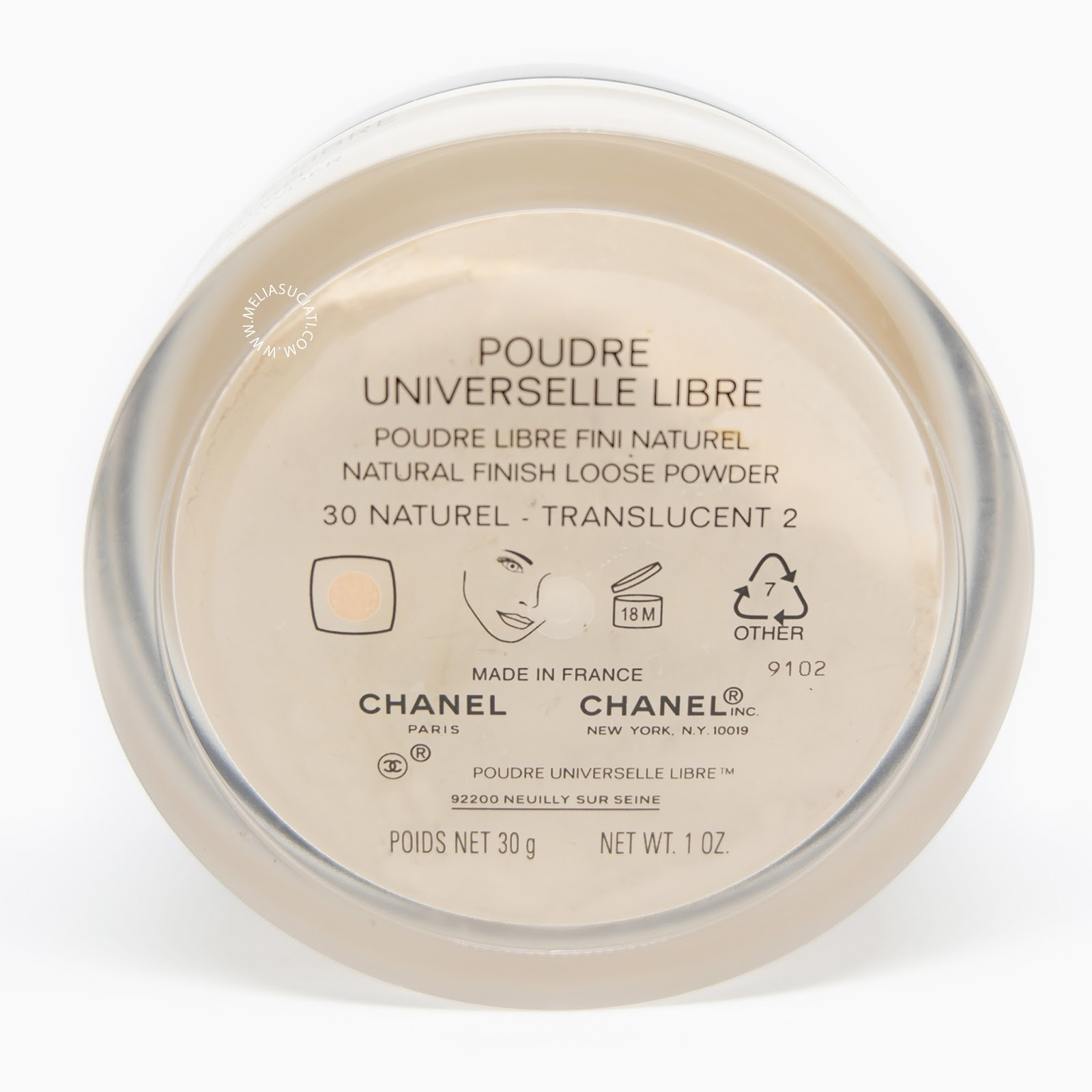 CHANEL POUDRE UNIVERSELLE LIBRE NATURAL FINISH LOOSE POWDER 30 NATUREL TRANSLUCENT 2