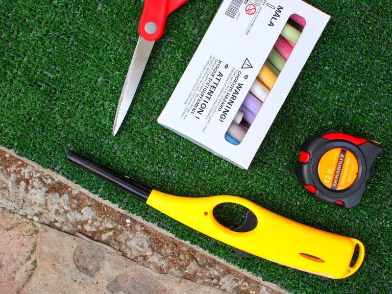 materials needed to cut and seal astro turf rug so that it doesn't shed