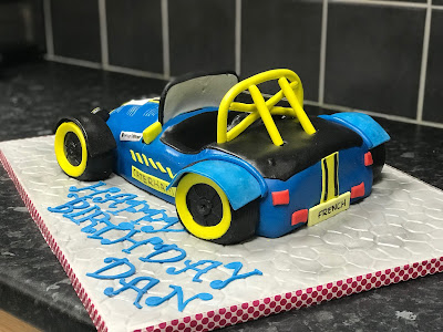 Rear View of my Caterham Birthday Cake