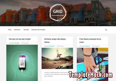 grid blogger template
