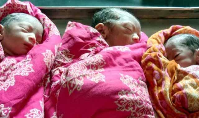জয়পুরহাটে সিজার ছাড়াই একসঙ্গে তিন সন্তান জন্ম দিলেন গৃহবধূ
