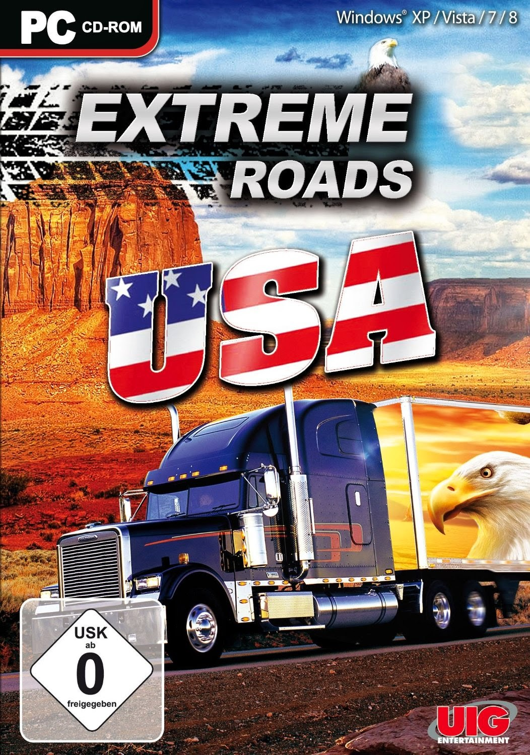 Cover Caratula Extreme Roads USA Full PC Descargar
