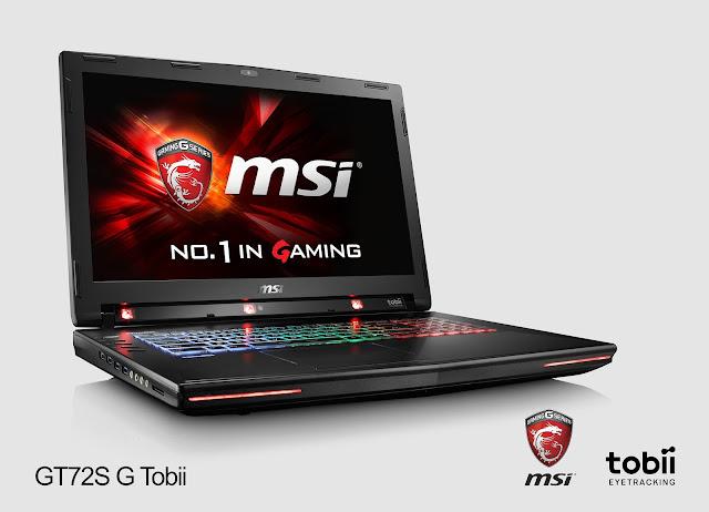 Laptop MSI GT 72S G Tobii hỗ trợ chuyển động bằng mắt đầu tiên trên thế giới