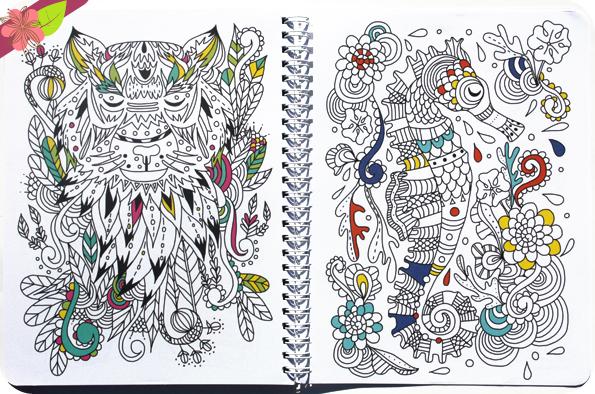 Cahier de texte à colorier - Deux coqs d'or