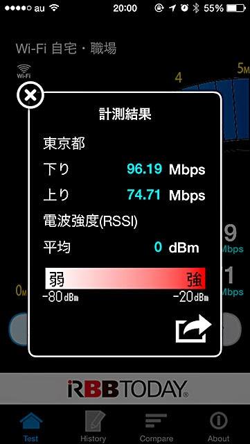 iPhone5sでスピードチェック
