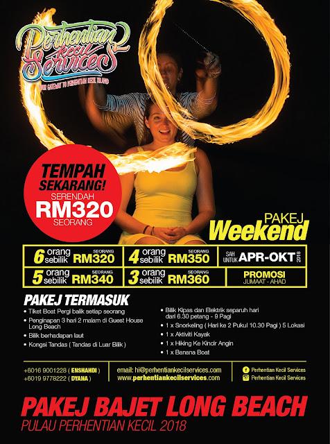 pakej pulau perhentian Terengganu 2018