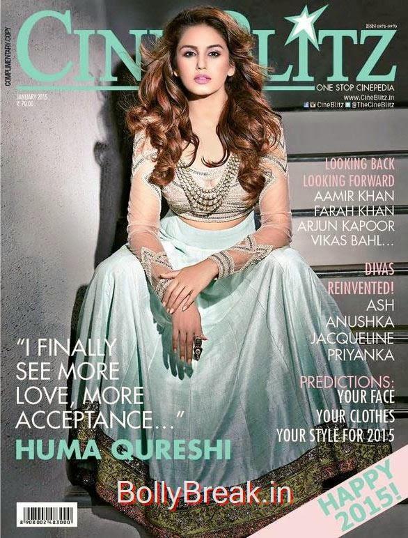 Huma Qureshi, January Cover Girls Hot Pics