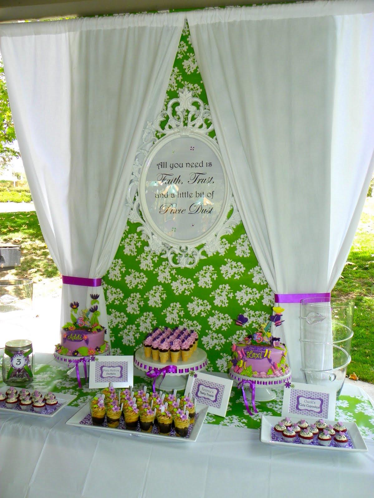 Plumeria Cake Studio Tinkerbell Birthday Dessert Buffet