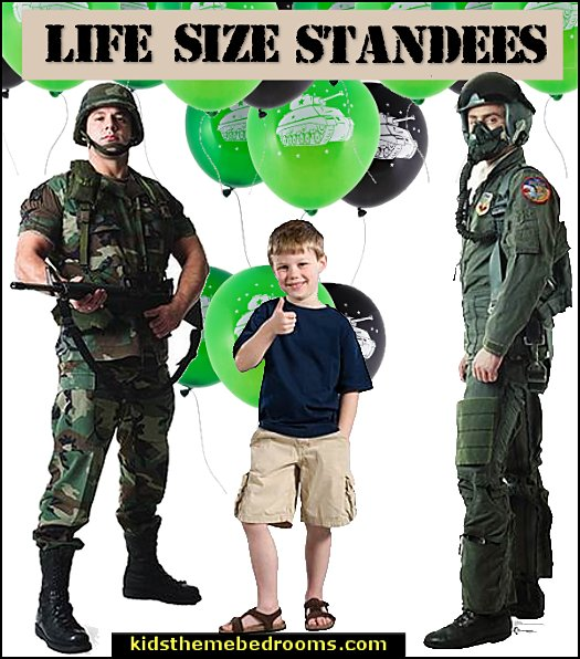 army party decorations - Camouflage Party Supplies  Army Soldier Life Size Standee  army party decorations